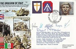 The Invasion Of Italy Signed Luftwaffe Pilot Nippa Kc Holder-fighter Bomber And Cl
