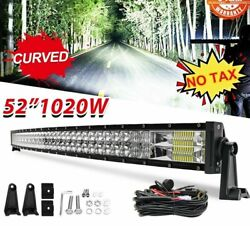 Trucks Vehicle Mobile Headlights Bar Roof Front Mount Dual Rows Curved Style New