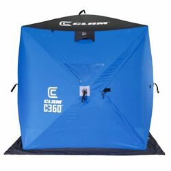 Clam 14474 C-360 6 Foot Pop Up Ice Fishing Angler Hub Shelter Tent For Parts