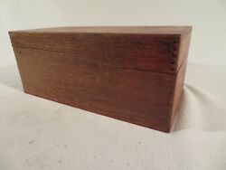 Wood Dovetail Index Card Box, Recipe Card Box, Antique ,shabby ,vintage Country