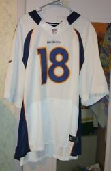 Denver Broncos 18 Peyton Manning Jersey Size 60 Authentic On Field Jersey