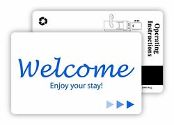 Hotel And Motel Popular Welcome Key Cards Magnetic Stripe -500 And Rfid-250 /case