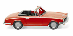 Red 1967 Bmw 1600 Gt Cabrio Wiking 1/87 Plastic Miniature Car Ho Scale Plastic