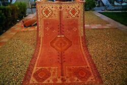 Vintage Purple Background With White And Orange Combination Berber Moroccan Rug