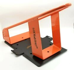 Lock N Load Wheel Chock W/mounting Plate Hardware Motorcycle Quad Stand Trailer