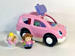Fisher Price Little People Pink Musical Van Suv Sounds Mom Baby Works