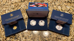 400th Anniversary Mayflower Voyage Gold Silver Coin Sets Reverse Proof Medal Set