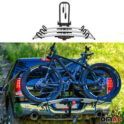 """3 Bicycle Carrier 2"""" Receiver Hitch Mounted Foldable Bike Rack For Suv Truck Car"""
