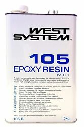 West System 105 Epoxy Resin Part 1 - 5kg For Fibreglass Boat Marine Repairs