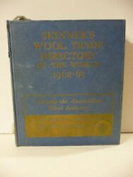 Skinnerand039s Wool Trade Directory Of The World 1962-63 - Thomas Skinner And Co. Ltd.
