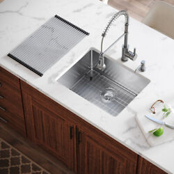 Mr Direct 1823 All-in-one Kitchen Sink, 18 Inch