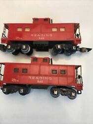 Lot Of 2 American Flyer 630 Reading Illuminated Caboose