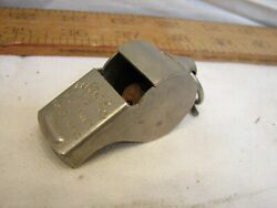 Early Wwii Era Regulation Us Army Brass Military Police Trench Whistle Cork Ball