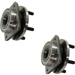 Wheel Hubs Set Of 2 Front Left-and-right For Le Baron Town And Country Pair