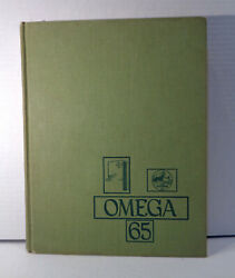 Vintage 1965 Ann Arbor High School Omega Yearbook W/ Iggy Pop And Others