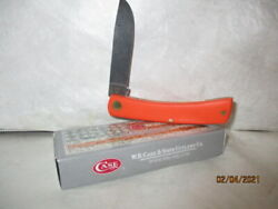 CASE KNIFE # 80502 ORANGE SYNTHETIC SMOOTH SOD BUSTER JR 4137SS