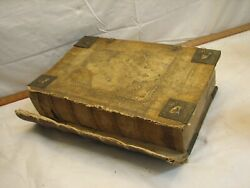 Antique 1788 Leather Bound German Family Bible Imprint Nuremberg Martin Luther