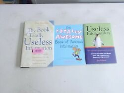 3 USELESS INFORMATION THE BOOK OF TOTALLY AWESOME HC W DJ amp; TRADE PB