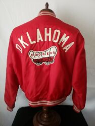 🔥🚨oklahoma Sooners Vtg Og Westwind Wagon Patch Red Xl Very Rare Very Nice