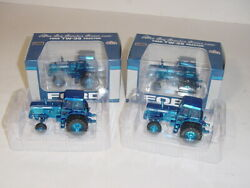 1/64 Ford Tw-35 Blue Chrome Toy Tractor Times Tractors Nib 1 Of 12 Sets