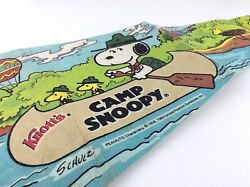 1965 Peanuts Camp Snoopy Knotts Berry Farm Banner Flag Pennant Schulz T830