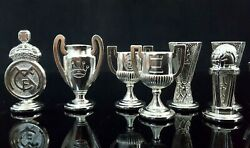 Official Set Chess Of Real Madrid Pieces And Figures Metal Made