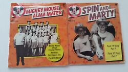 2 Vintage Disney Mickey Mouse Club 45 Rpm Records Alma Mater And Spin And Marty