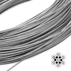 100m Stainless Steel Wire Rope 304 1/8 Cable Railing Aircraft Diy Boat Hardware