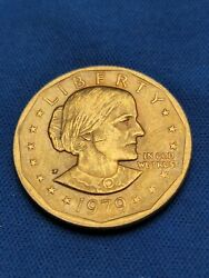 1979-d 24k Gold Plated Susan B. Anthony Dollar Coin In Original Package