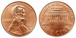 2008 P And D And Clad Proof Lincoln Three Pennies From Us Mint Sets Cp10490