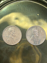 Rare 1946 Lincoln No Mint Mark Wheat Back One Cent Penny Coins