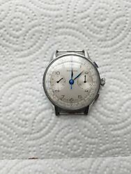 Nicolet Cronograph Military Stainless Steel Case. 1940. S 144
