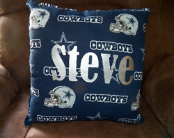 Dallas Cowboys Throw Pillow Personalized New Handmade Man Cave,football,