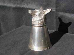 Old Stirrup Cup Fox Head Marked J. E. Caldwell And Co. Sterling Cup Appx 315 Grams