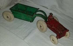 Arcade 265 R Cast Iron Allis Chalmers Tractor And Spreader