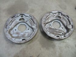 1959 Ford Galaxie Fairlane Front Spindle Steering Brake Shoe Backing Plate Pair