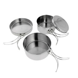 Portable Lightweight Camping Cookware Set Backpacking Gear for Hiking Picnic $24.29