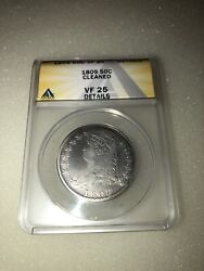 1809 Capped Bust Silver Half Dollar 50c Anacs Vf 25 Details Cleaned