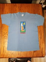 Birdhouse Vintage 90's Shirt Fox And Crow T-shirt Tee Baby Blue Anvil Size Large