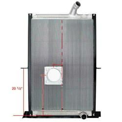 New 239040 Mack Radiator - 38 7/8 X 27 1/2 X 2 Without Cooler With Crank Box