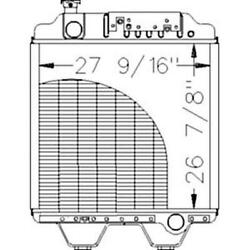 New 86013264 New Radiator Fits Ford Nh Tractor G170 8670 8670a