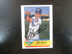 1994 Fleer Procards 3769 Mike Micucci Autograph Signed B Williamsport Cubs