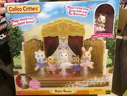 Calico Critters Very Rare Ballet Theater Cc1727 Retired New In Box