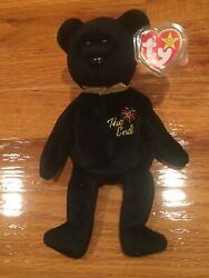 """Sale Mint Beautiful Ty """"the End"""" Beanie Baby Bear Retired With 8 Rare Tag Errors"""