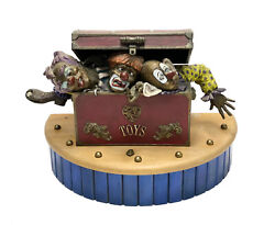 Martin Eichinger Us 20th C. Cold Painted Bronze Sculpture- Clowns In Chest