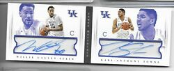 2015 National Treasures Dual Rookie Auto- Karl Anthony Towns, Cauley-stein /43