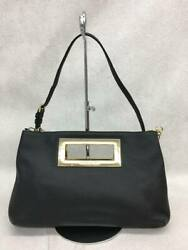 Used Michael Kors Clutch Bag Leather Blk Bag $138.24