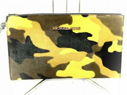 Michael Kors Clutch Bag Yellow Black Dark Brown Harako Used $141.86