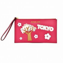 Michael Kors Clutch Bag Second Women #x27;S Tokyo Pink Illustrations Cherry $151.83