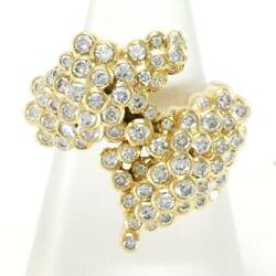 Jewelry 18k Yellow Gold Ring 11.5 Size Diamond About12.5g Free Shipping Used